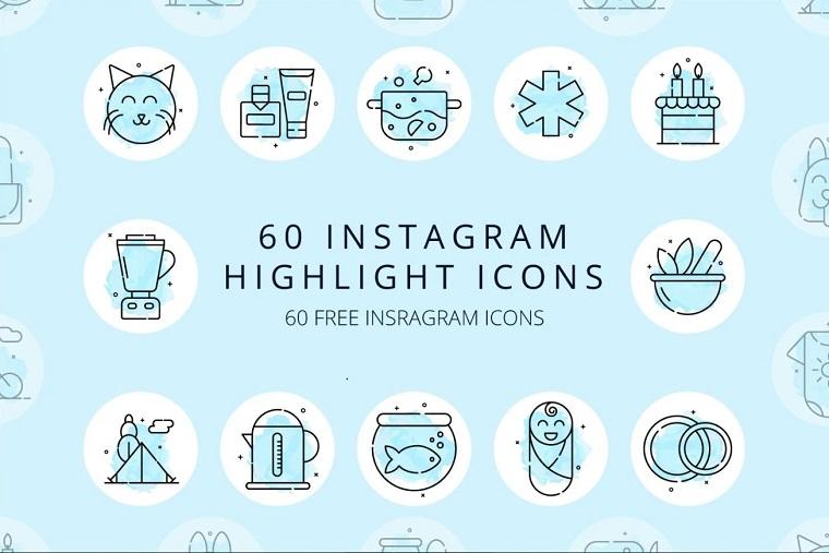Instagram highlight icons.