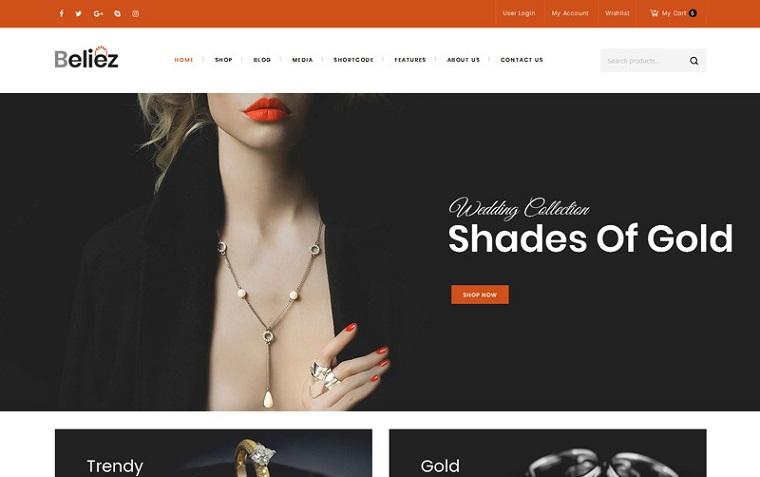 Beliez - Jewelry Shop WooCommerce Theme