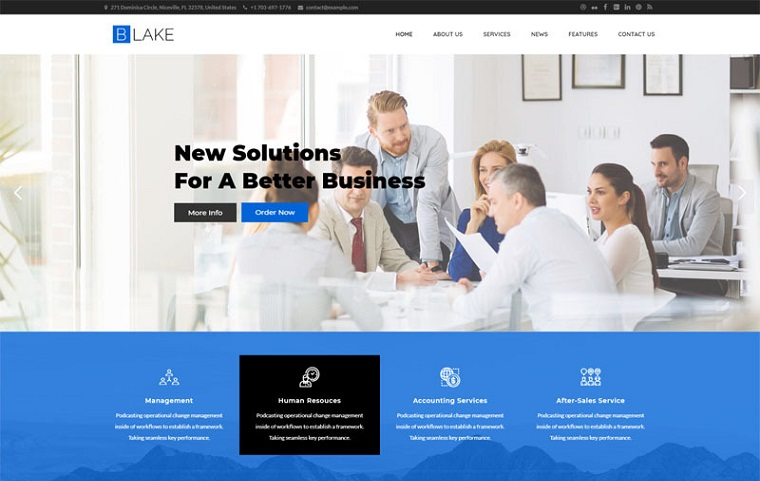 Multi-functional Blake WordPress Theme