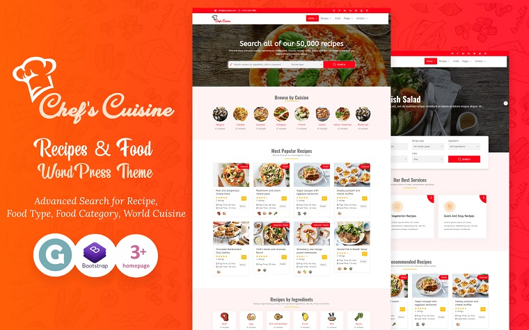 Delicious Chef's Cuisine WordPress Theme