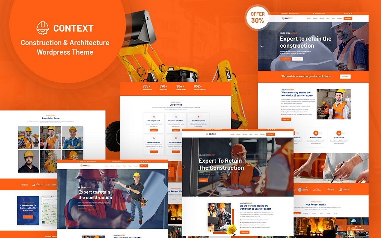 Context - Construction and Architecture WordPress Theme.