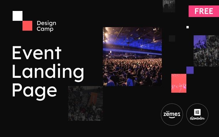 Dark-Colored Event WordPress Template