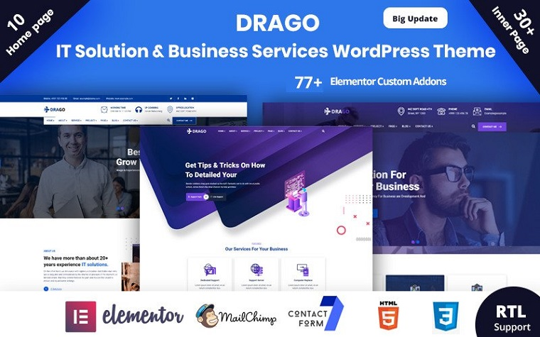 Awesome Drago WordPress Theme
