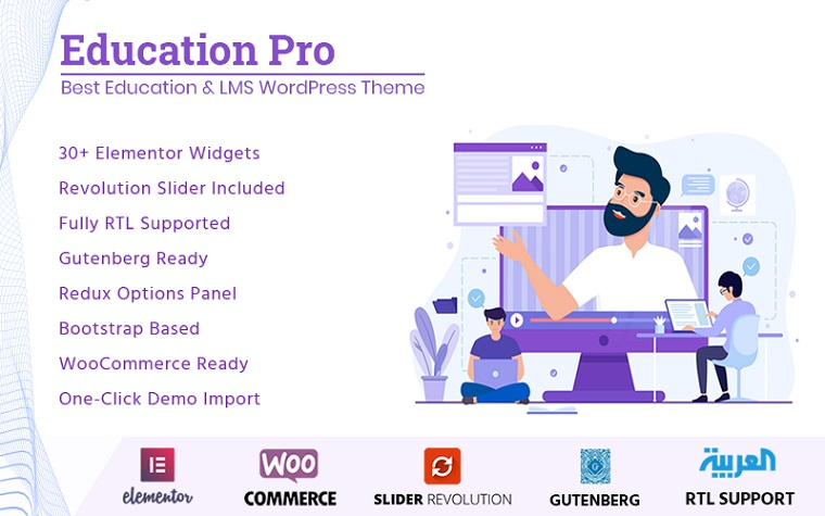 Colorful Education Pro WordPress Theme