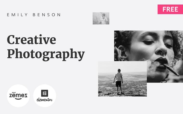 Creative Minimalistic Photographer Portfolio WordPress Theme