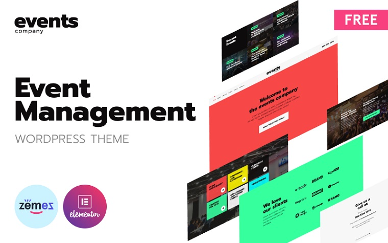 One-Page Event Management WordPress Theme