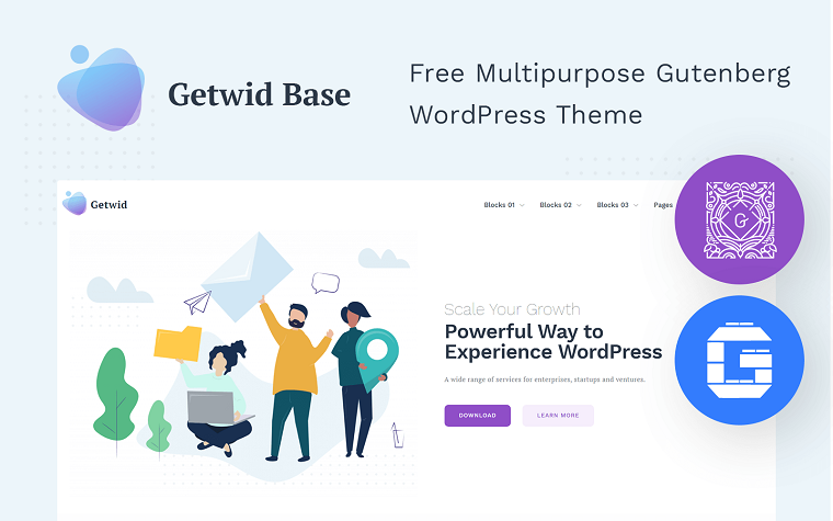 Multipurpose Minimalistic Gutenberg WordPress Theme