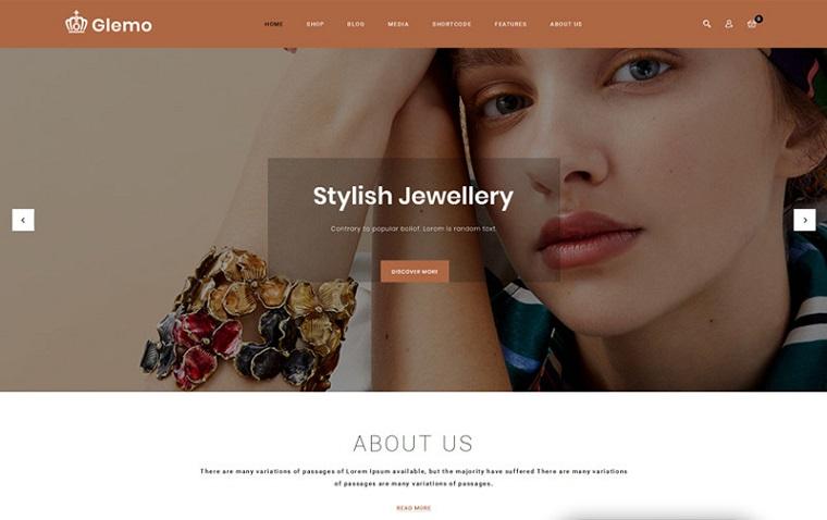 Glemo - Modern Jewelry Store WooCommerce Theme