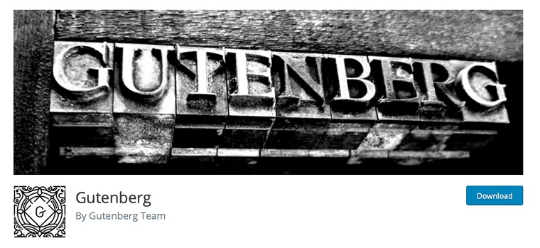 Gutenberg plugin.