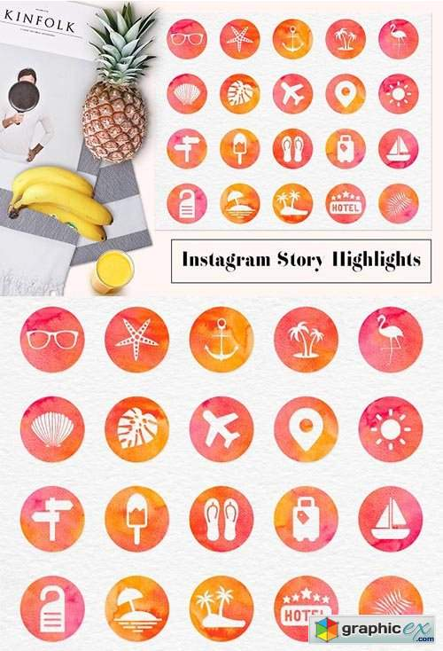 Insta story icons.