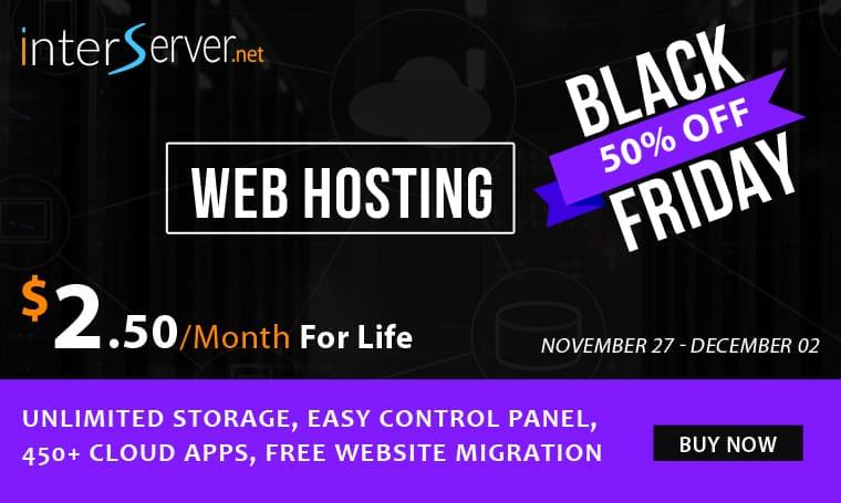 Interserver Digital Black Friday Deals