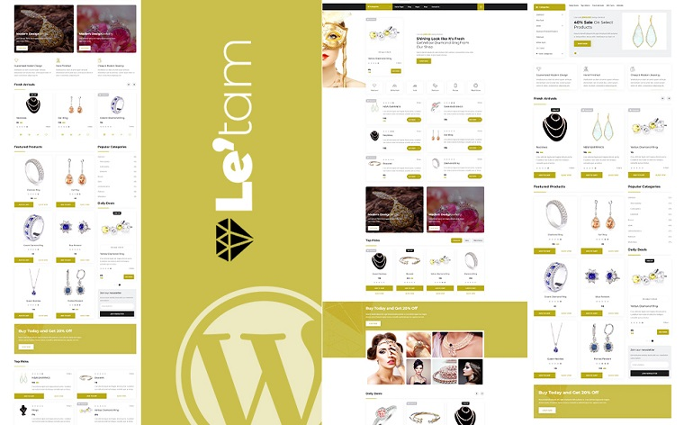 Le'tam | Jewelry Shop WordPress Theme