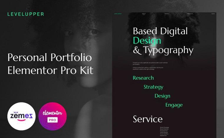 Levelupper - Web Portfolio Elementor Kit