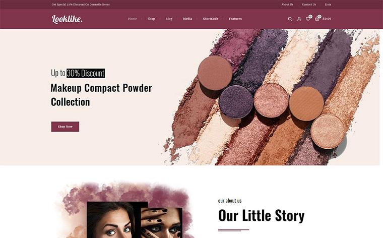 Looklike - Cosmetics Store WooCommerce Theme