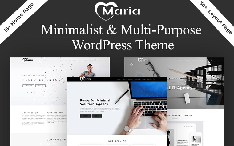 Minimalistic Maria WordPress Theme