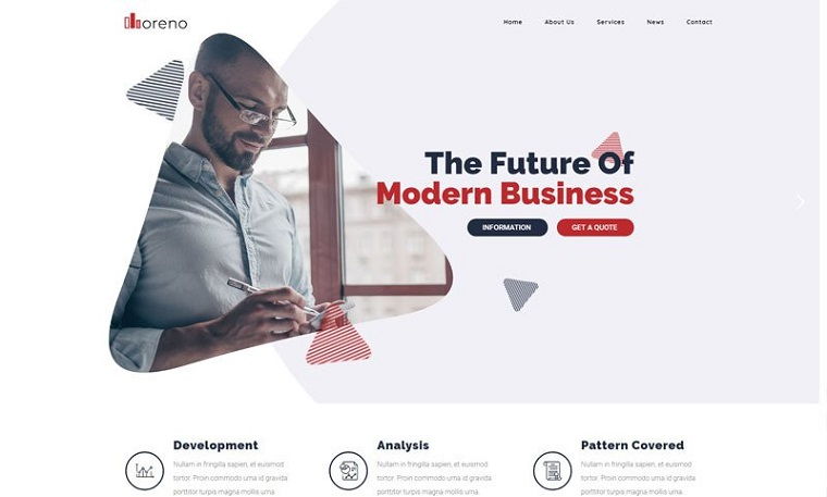 Modern Moreno WordPress Theme