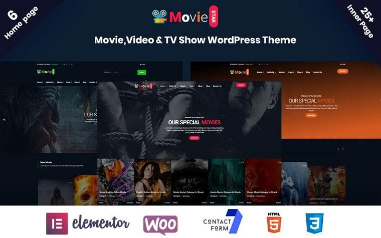 Online Moviestar WordPress Theme