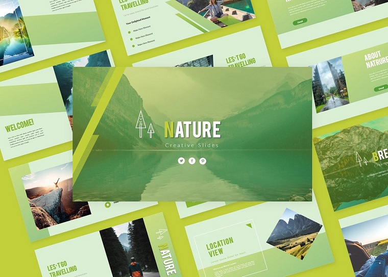 Nature Creative Slide PowerPoint Template
