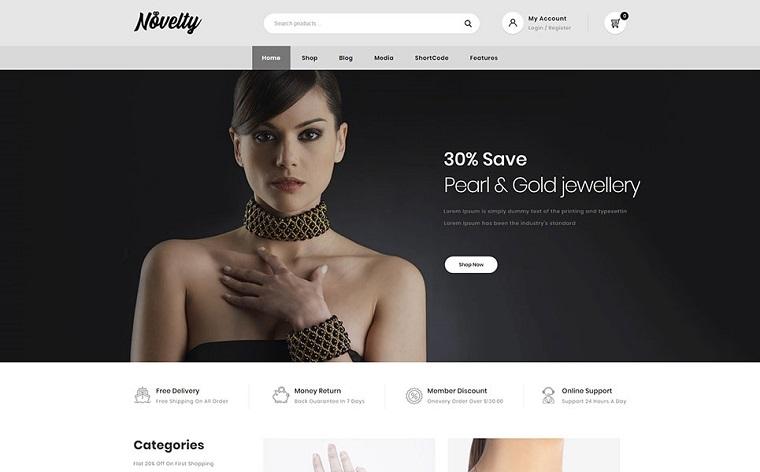 Novelty - Jewelry Store WooCommerce Theme