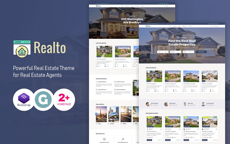 Powerful Realto WordPress Theme