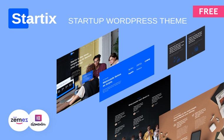 Modern Startup WordPress Template