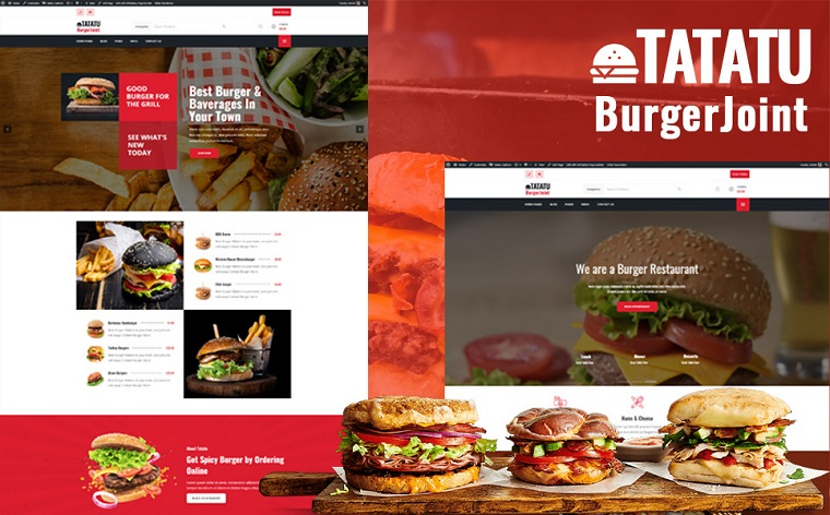 Burger Joint Tatatu WordPress Theme