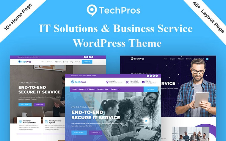 Business Services Techpros WordPress Theme