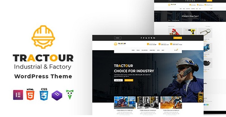 Industrial Tractour WordPress Theme