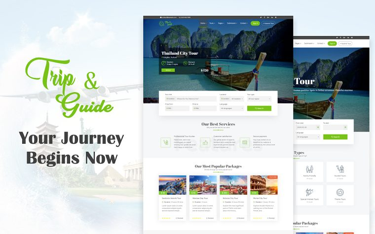 Trendy Trip & Guide WordPress Theme