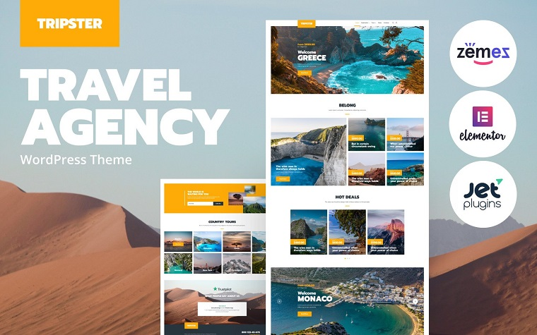 Top-notch Tripster Elementor WordPress Theme