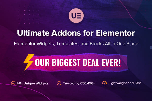 Ultimate Addons for Elementor.
