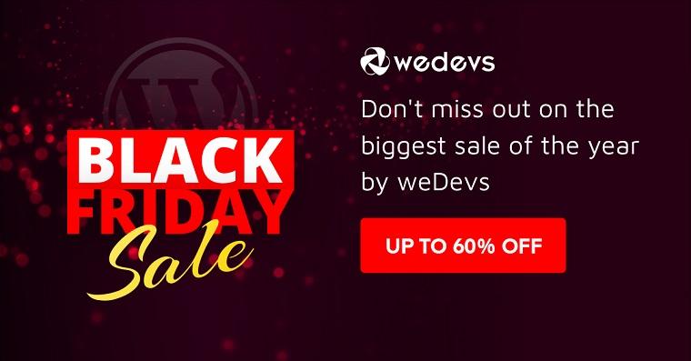 weDevs Digital Black Friday Deals