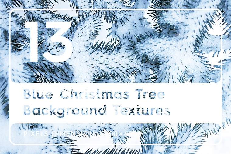 13 Blue Christmas Tree Textures Background