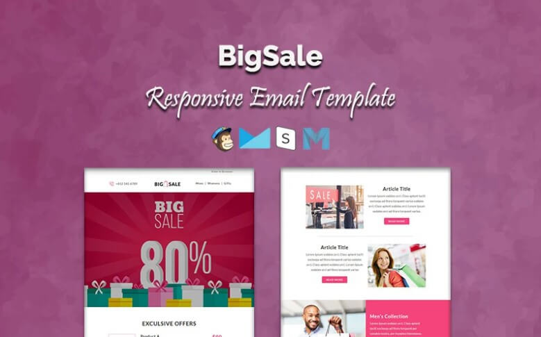big sale newsletter template