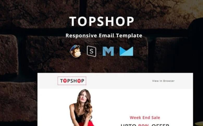 topshop newsletter template