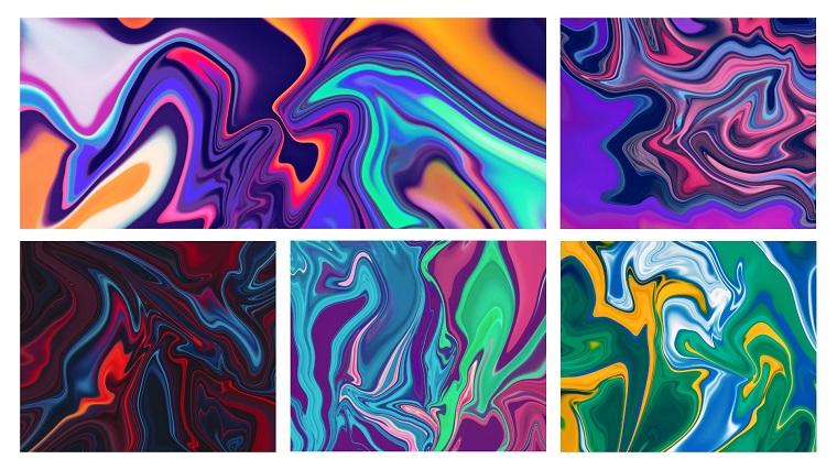 Abstract Vibrant Liquid
