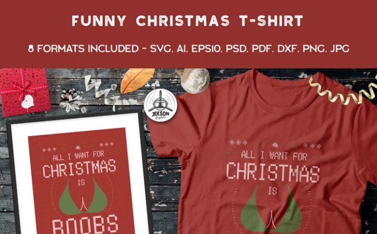 All I Need for Christmas is Boobs T-shirt.