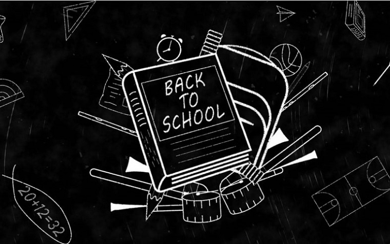 Black-And-White Vintage School After Effects Slideshow Design