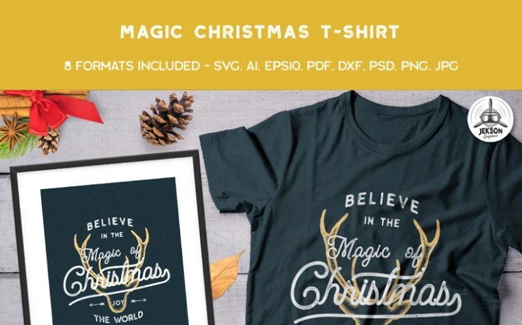 Believe in the Magic of Christmas T-shirt.