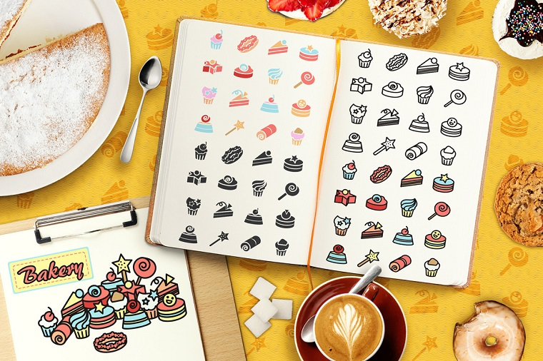 Cakes Elements Vector Pack