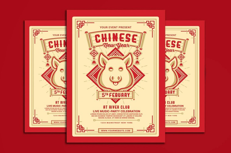Chinese New Year Corporate Identity Template 2