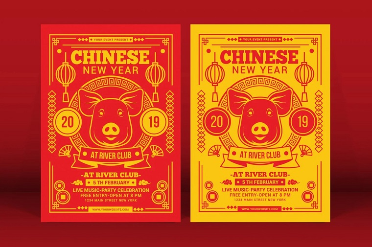 Chinese New Year Corporate Identity Template
