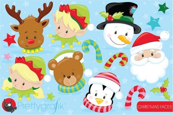 Christmas Faces Clipart