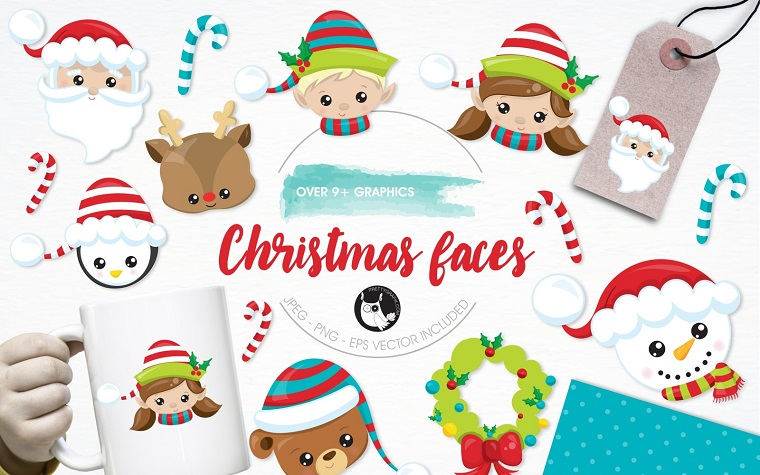 Christmas Faces Pack