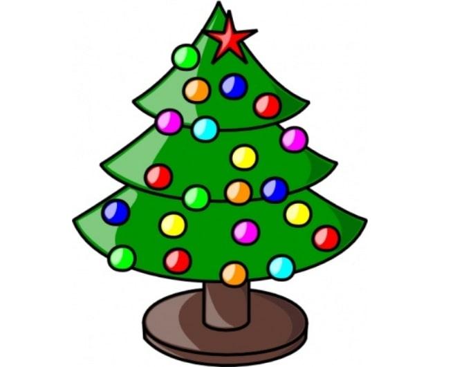 Cute Christmas Tree Lights Clipart.