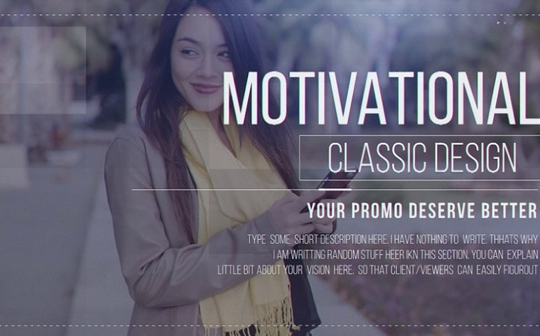 Classic Motivational After Effects Slideshow Template