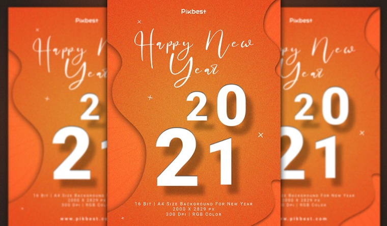 Editable Happy New Year Golden Glitter Background.