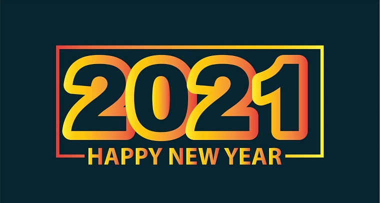 Happy New Year 2021 logo.
