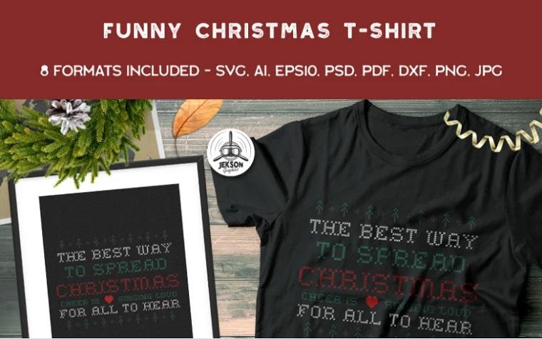 Funny Ugly Christmas Design T-shirt.