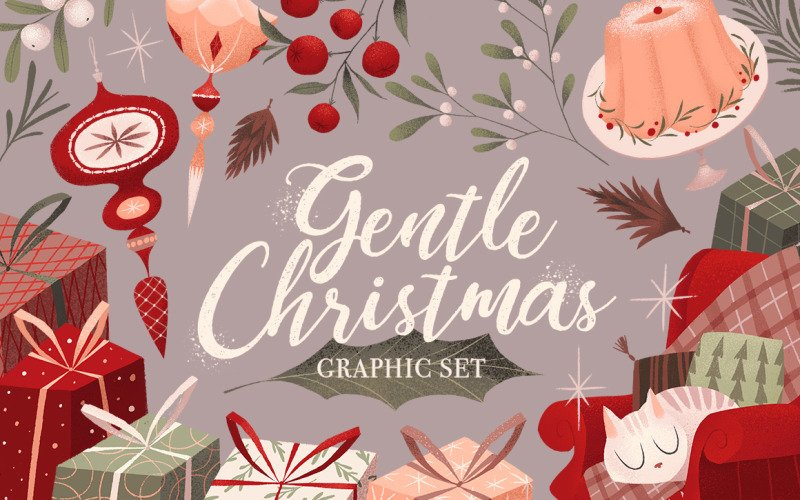 Gentle Christmas Illustration